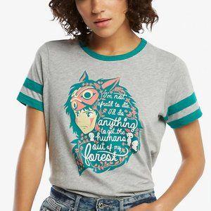 Studio Ghibli Princess Mononoke T-Shirt Jr Size L